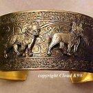 Boston Terrier CUFF BRACELET  *SIGNED* Jewelry