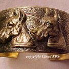 Great Dane CUFF BRACELET *SIGNED* Jewelry