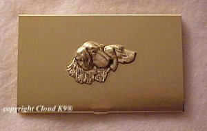 Setter Business Card Case  ( Irish, English or Gordon Setter )