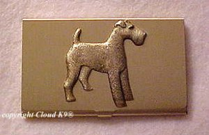 Terrier Business Card Case ( Airedale, Irish, Welsh or Wire Fox Terrier )