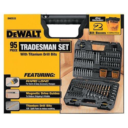 Dewalt 95 Piece Tradesman Set Drill Bits