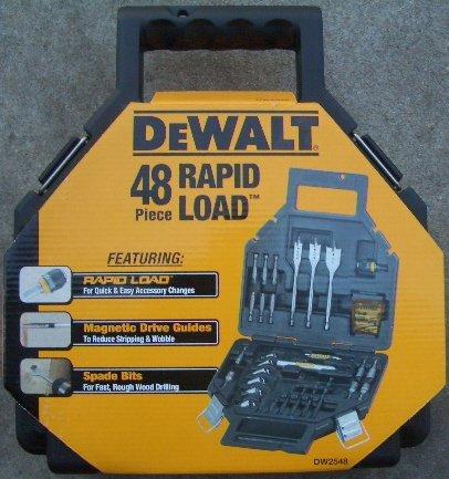 DW2548 DeWALT 48 PIECE RAPID LOAD DRILL BIT SET