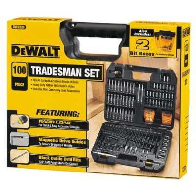 DW2529 Dewalt 100 Piece Tradesman Set Drill Bits