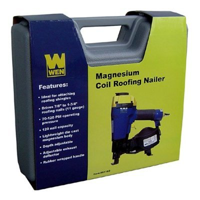 "WEN 61782 7/8"" to 1-1/4"" Coil Roofing Nailer with Magnesium Housing"