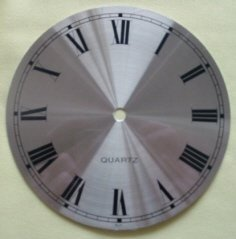 "3-5/8"" Alum/Brass Spun Roman Clock Dial"