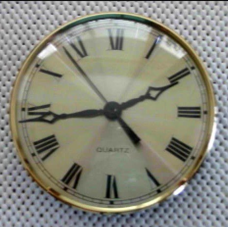 """5-3/4"""" Bezel Fitup w/Roman Dial - Brass and Glass"""