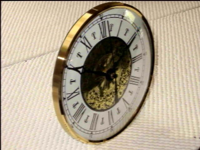 "5-3/4"" Bezel Fitup  w/Fancy Roman Dial - Brass and Glass"