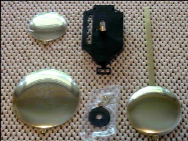 "Regular Pendulum Quartz Clock Movement 13/16"" Threaded Shaft (Choice of Hands/Rod/Bob)"