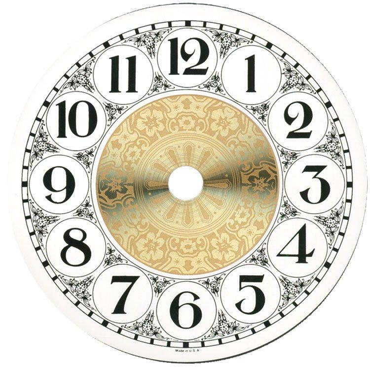 """4-1/4"""" Metal Designer Fancy Face Arabic Clock Dial"""
