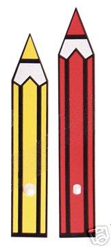 10 Pr New Novelty Crayon Clock Hands