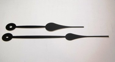 """8"""" Large Black Spaded  Long Clock Hands (Requires High Torque Movement)) #34"""