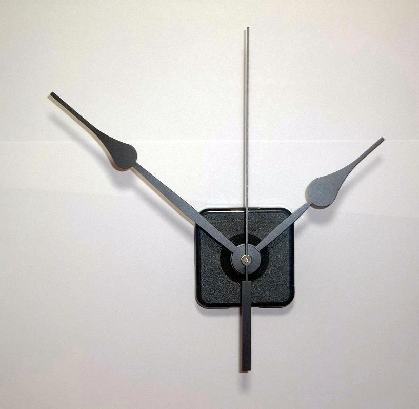 """Continuous Motion Quartz Clock Movement w/5-1/2"""" Spaded Hands #32"""
