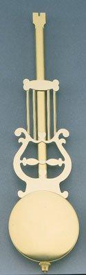 "12"" Brass Lyre Pendulum  With 3-1/2"" R& A  Bob"