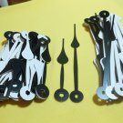 25 Pairs Black/White New Spaded Clock Hands (#32) For Scrapbooking, Steampunk, Embellishment