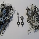 25 Pairs New Fancy Black/White Clock Hands (No43))For Scrapbooking, Steampunk, etc