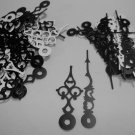 25 Pairs New Serpentine Black/White Clock Hands (No7) For Scrapbooking, Steampunk, Embellishment