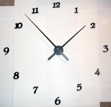 """High Torque Clock Movement w/17-1/2"""" Large Spaded Hands No3, Wall Mount w/Deluxe Arabic Hour Numbers"""