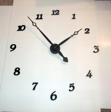 """High Torque Clock Movement with 14""""  Diamond Shaped Hands No2, Wall Mount, Deluxe Hour Numbers"""