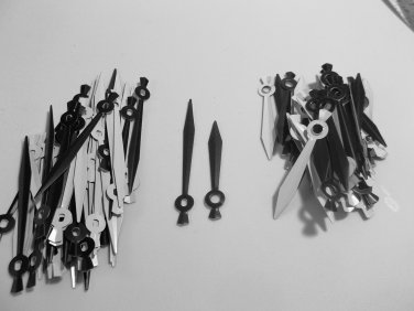 25 Pairs New Sword Black Clock Hands (No10) For Scrapbooking, Steampunk, Embellishment