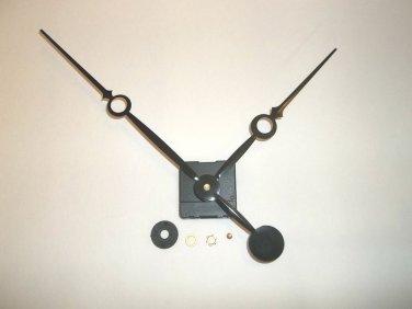 High Torque Clock Movement  (Silent Sweep) Extended Shaft w/9-1/4 in. Black Sword Fancy Hands (No8)