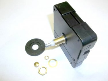 High Torque Clock Movement (Silent Sweep) Extended Shaft, Medium Shaft  (For Long Hands)