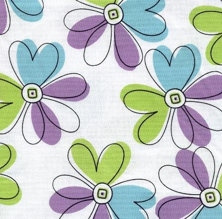Green and Purple Flowers Hootie