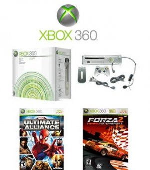 Xbox 360 Premium Console Bundle with 2 Fun Games