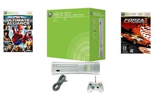 Xbox 360 Core Console Video Game System with 2 New Great Games