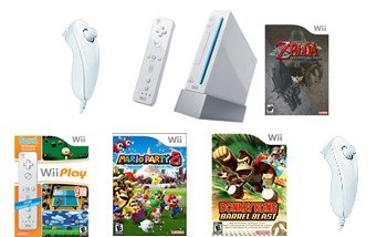 Nintendo Wii Top Sellers Bundle - With 17 Top Selling Games and 4 Controllers