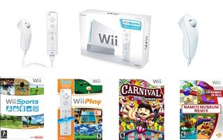 Nintendo Wii Ultimate Bundle - With 40 Great Games, Docking Station and 4 Controllers