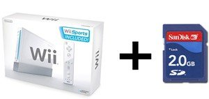 Nintendo Wii Sport Bundle - With 5 Great Sports Games and 2GB SD Card for Wii
