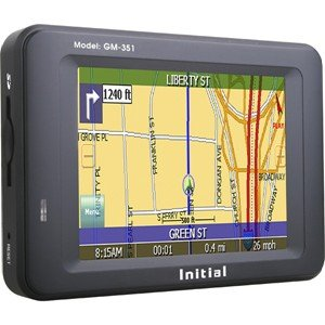 Initial Gm-351 Global Navigation Color Touch Screen Portable Gps Navigation System
