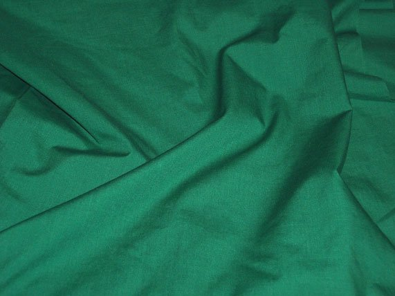 Kelly Green Poly Cotton Broadcloth