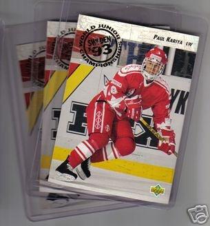 1992/1993 Upper Deck Paul MHL Hockey - Kariya Rookie Cards 3 card lot!