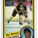 Ray Bourque 1984/1985 O-Pee-Chee NHL Hockey Card #1, VERY NICE!
