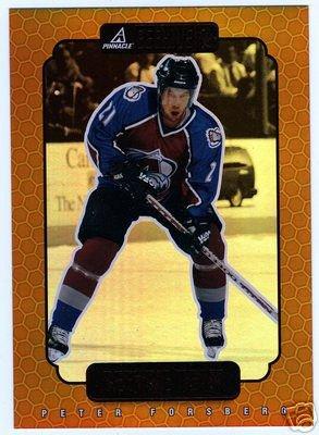 "Peter Forsberg 1997/1998 Beehive NHL Hockey Team Insert 9 of 25 - 5""x7"" Format"