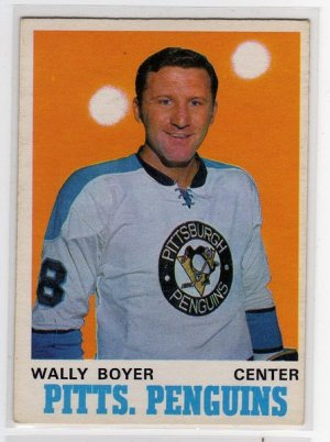 1970/1971 OPC NHL Hockey Card #203 Wally Boyer, Mid Grade OPC Card