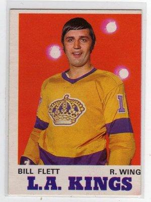 1970/1971 OPC NHL Hockey Card #161 Bill Flett, Mid Grade OPC Card