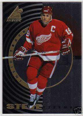 Steve Yzermen 1997/1998 Pinnacle, Inside Track NHL Hockey Insert Card #9 of 30