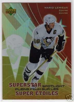 Mario Lemieux 2005/2006 UD McDonalds NHL Hockey Insert Card Superstar Spotlight - SS1