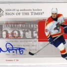 Nathan Horton 2004/2005 SP Sign Of The Times NHL Autograph Card #ST-HO