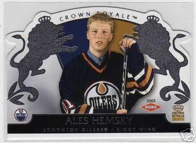 Ales Hemsky 2002/2003 Crown Royale NHL Hockey Rookie Card #114