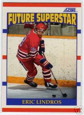 Eric Lindros 1990/1991 Score NHL Hockey Rookie Card #440c, MINT