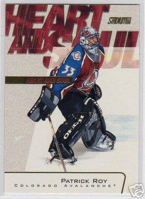 Patrick Roy - 2001/2002 Stadium Club NHL Hockey Insert Card #HS2 MT! NICE