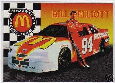 Bill Elliott, McDonalds NASCAR Racing Team 1996, Insert Card #MBE-1