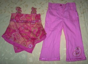 Pink overlap-fuschia set for 4 years old (RM55) / (S$28)