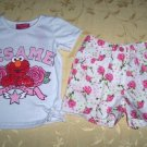 Elmo White Short Set for 5 years old (RM48) / (S$24)