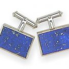 Luxury Lapis-Lazuli Mens Cufflinks with silver backing - stylish and elegant.