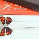 Bookmark - Enameled Tortoiseshell Butterfly - luxury gift for a book reader