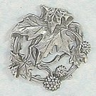 Art Nouveau style brooch design of fruits and leaves of a Plane tree